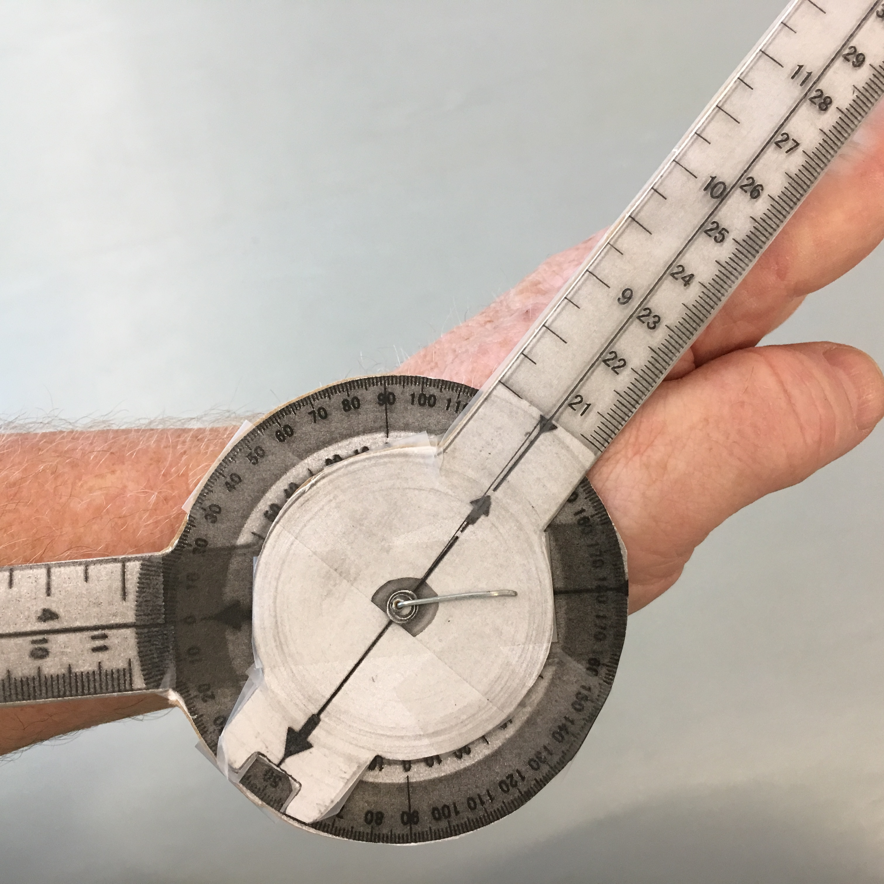 Picture of Goniometer for Joint Range of Motion Measurement