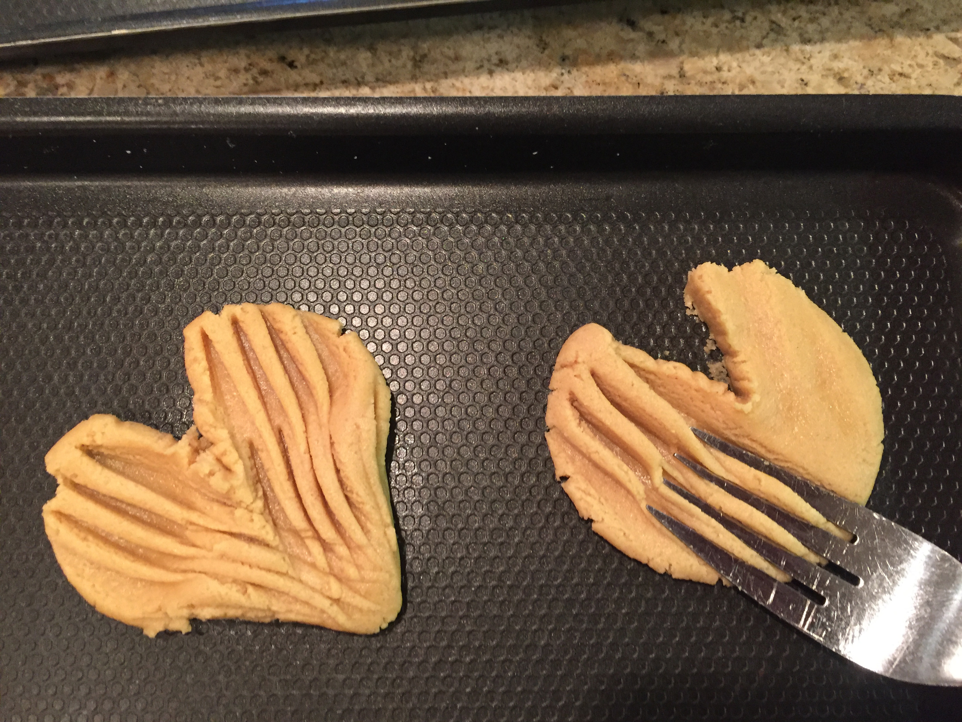 Picture of With Fork Tines Press Down the Dough