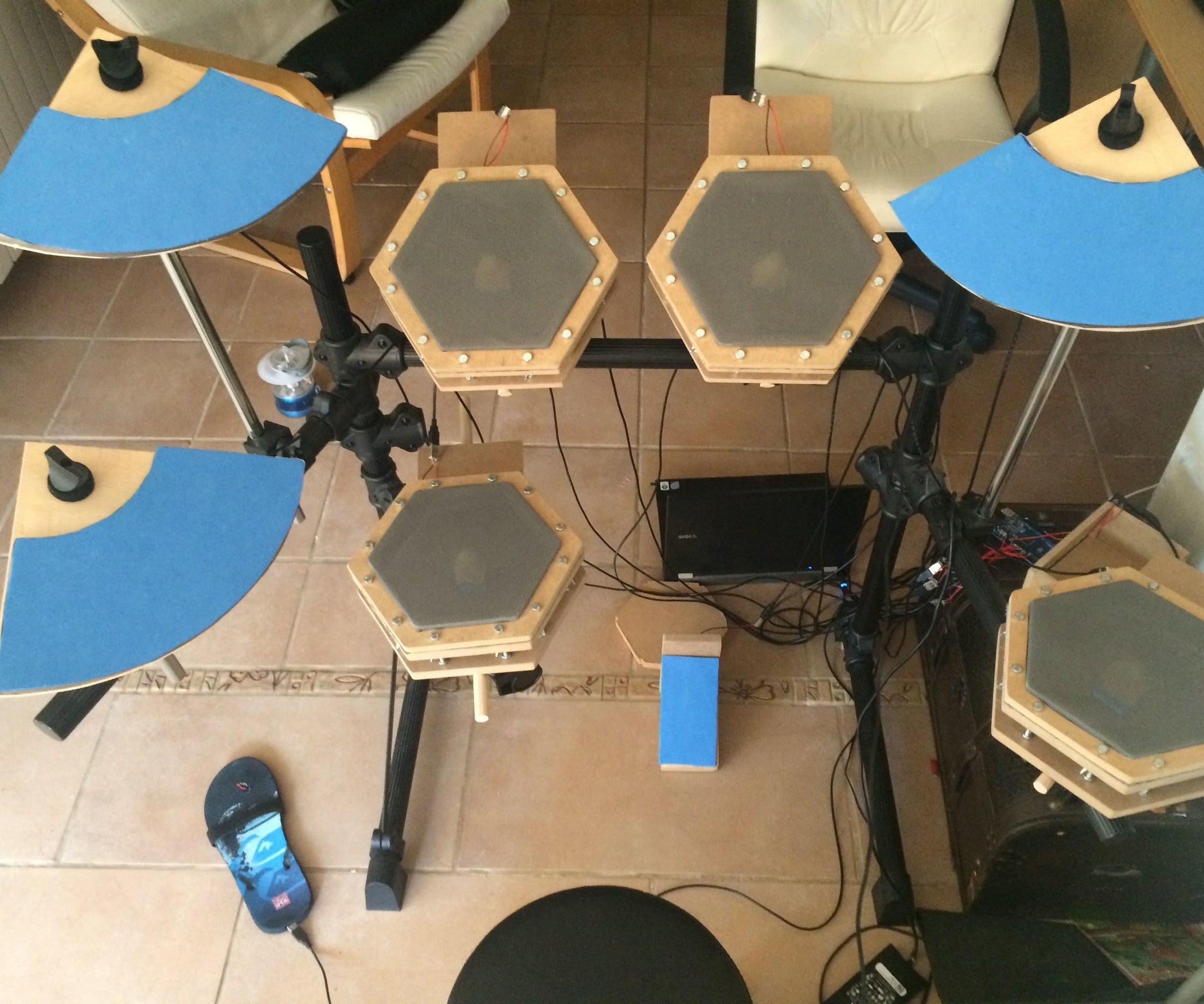 Homemade Electronic Drum Kit With Arduino Mega2560 DIY
