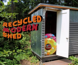 Recycled Modern Shed