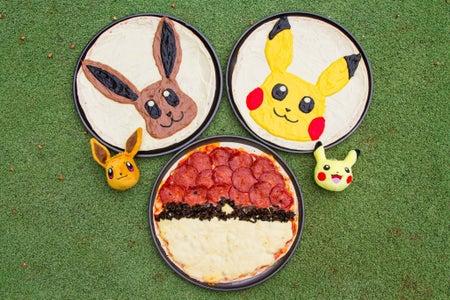 Pokemon Pizzas (Pikachu and Eevee)