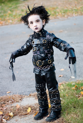 Picture of Simple (yet Effective) Edward Scissorhands Costume for Kiddos