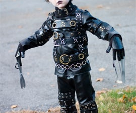 Simple (yet effective) Edward Scissorhands costume for kiddos