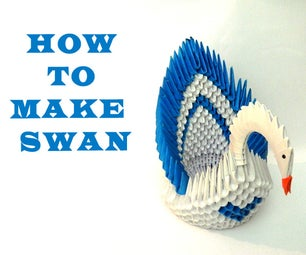 How to Make 3D Origami Swan