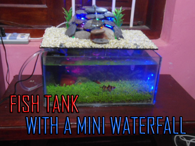 Picture of Fish Tank With a Mini Waterfall
