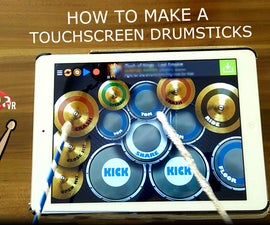 Touchscreen Drumsticks! Cheap and Easy!