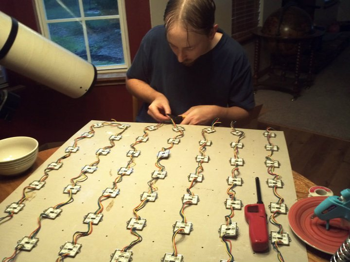 Picture of Installing the LEDs