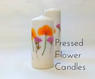 Quick and Easy Pressed Flower Candles