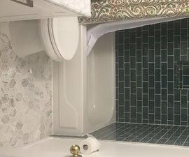 Glass Tile Bathroom Renovation