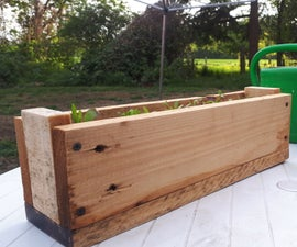Plant Bed Made Out of Pallet Wood