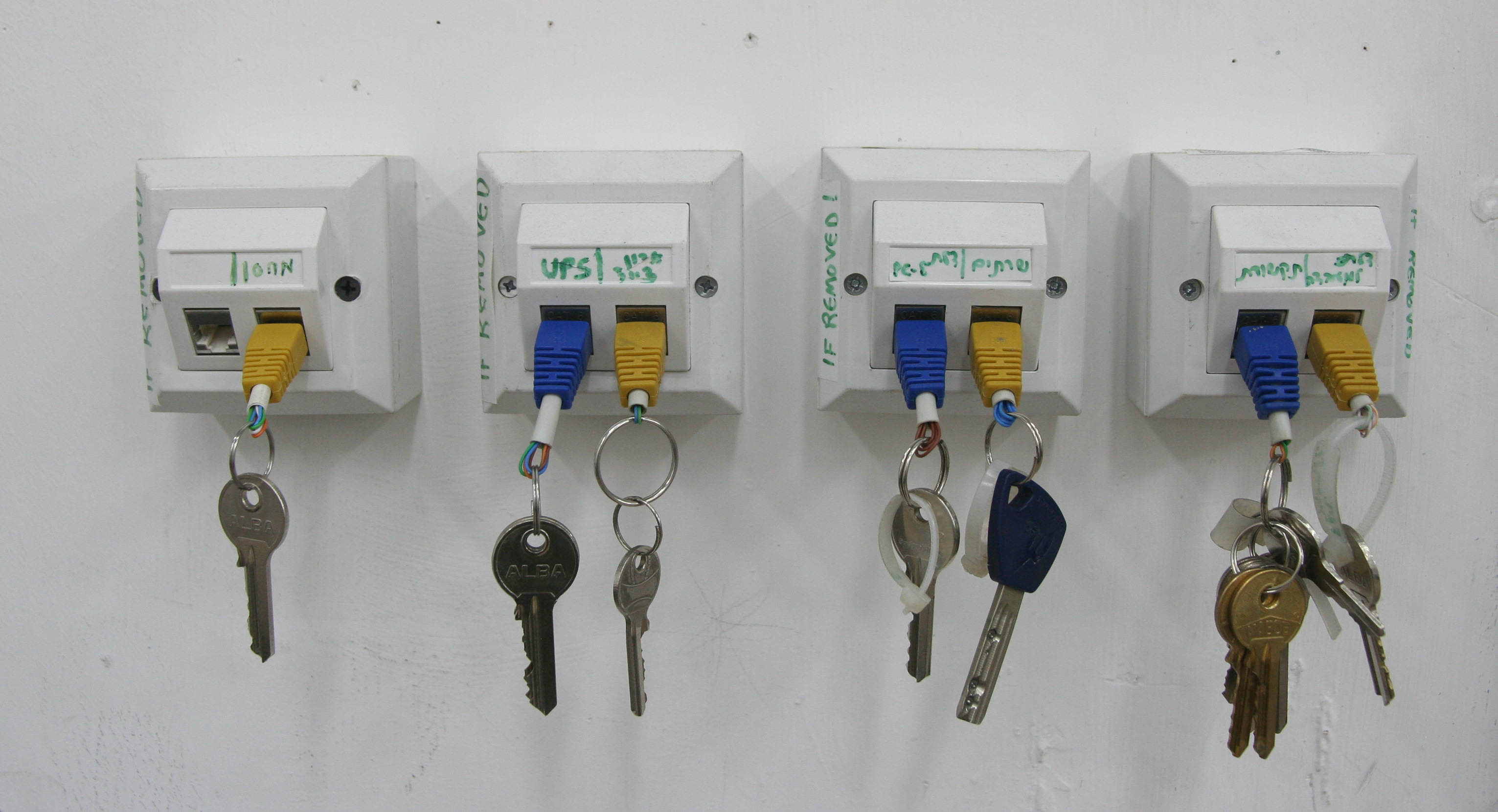Picture of RJ-45 Key Chain and Rack