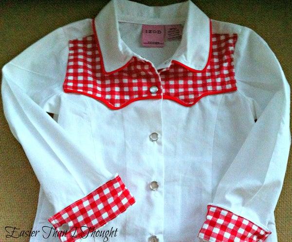 Turn a Collared Shirt Into a Cowboy/Cowgirl Shirt