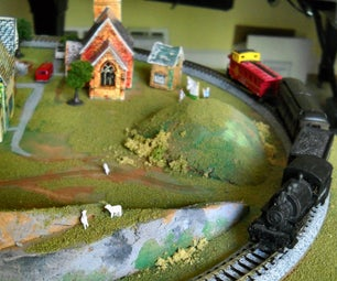 N Scale Railroad Layout - Small - Easy