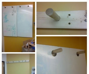 Dowel Peg Whiteboard Hanging System