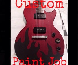 How To Give Your Guitar A Custom Paint Job