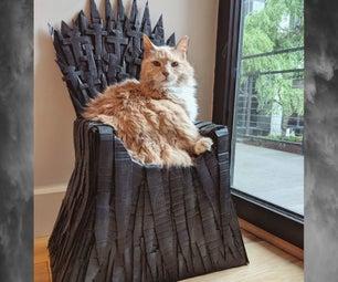 Cardboard Iron Throne Cat Bed