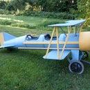 Cardboard barrel biplane. The Flyin' Lion