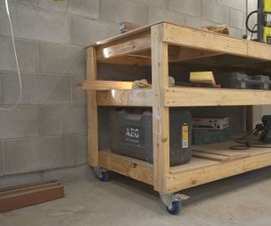 Simple Mobile Workbench/Assembly Table