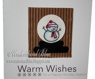 Homemade Snowglobe Card