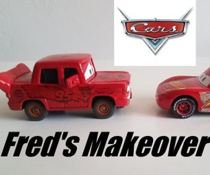 CARS - Fred's Makeover Aka From a Rusty Car to a Lightning McQueen Version Using Rust-eze & Elbow Grease