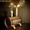 LED Steampunk lamp using old light bulbs