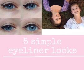 5 Simple Eyeliner Looks