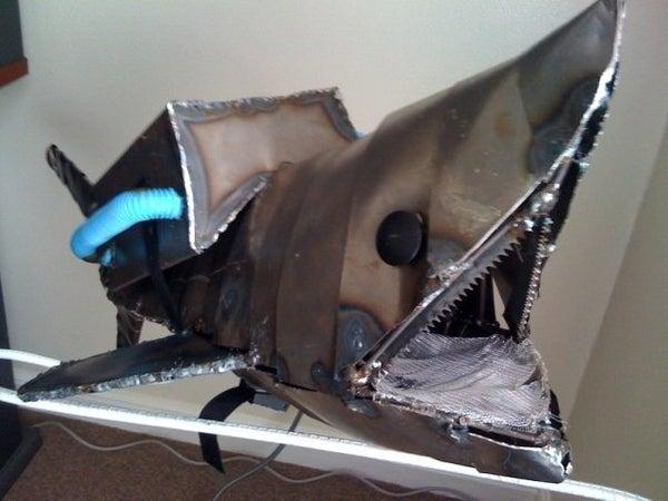 Jetpack Shark Sculpture