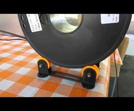 3D printer filament spooler support assembly guide