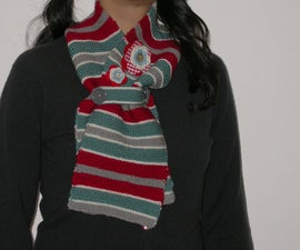 Stripey winter throat warmer