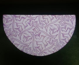 Plaster Lizard Tiles With Purple Grout