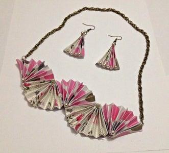 DIY Folded Paper Jewelry