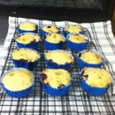 Low Fat, Sugar Free Banana and Blueberry Muffins