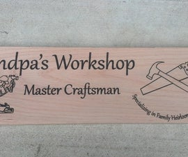 How to paint a laser engraved wood sign at TechShop