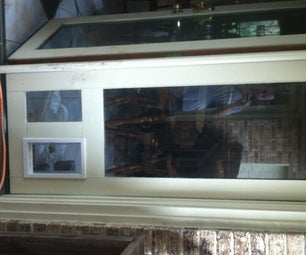 Dog Door Installed in a Insulated Glass Unit