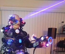 Cyborg Cybernetic robotic machine alien species Laser Smoker LED's Halloween Costume! LEGIT
