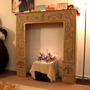 Cardboard Faux Fireplace