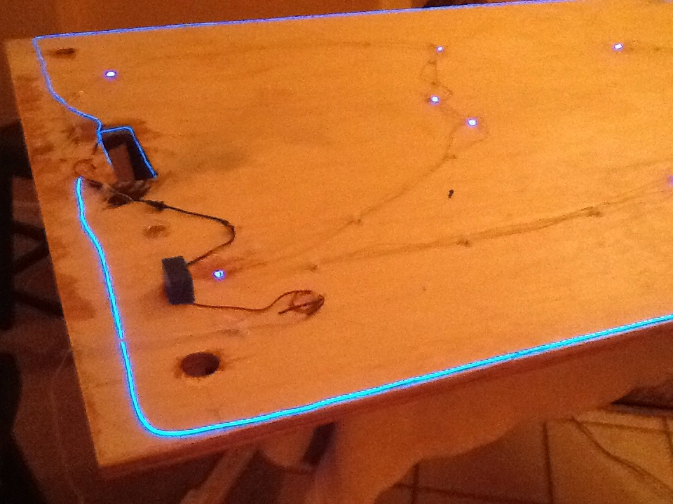Picture of Wiring the LED's and Adding EL Wire.