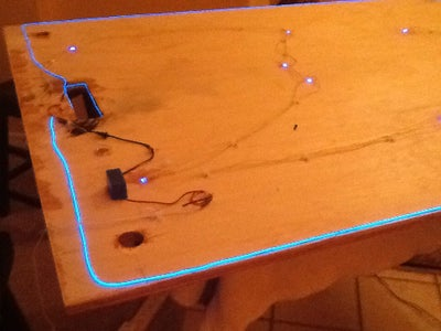 Wiring the LED's and Adding EL Wire.