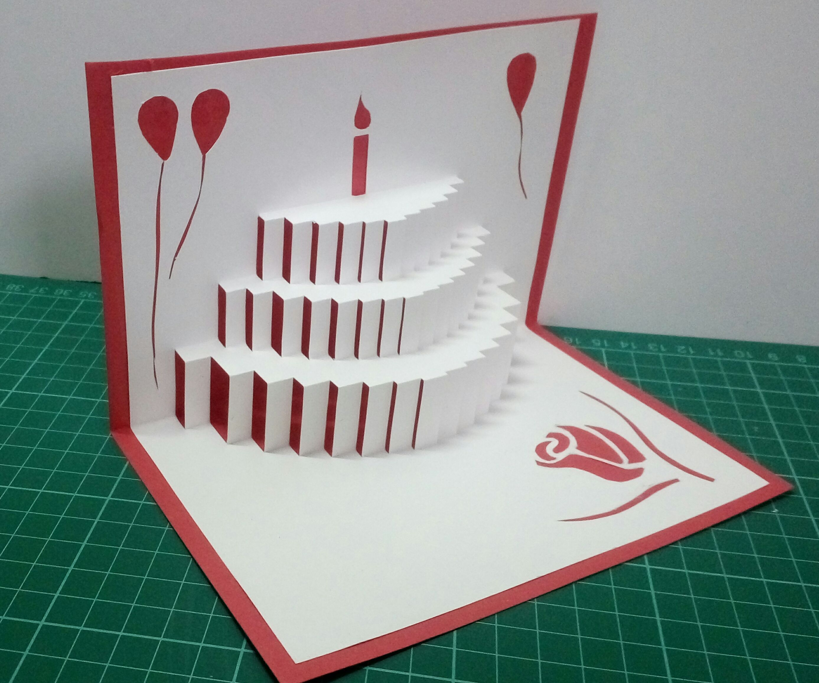 Fabulous Popup Birthday Card 5 Steps With Pictures Instructables Funny Birthday Cards Online Fluifree Goldxyz