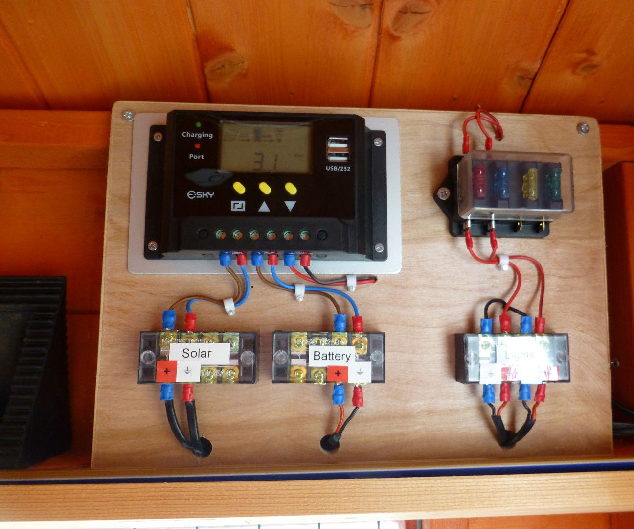 fuse box in smart car shed 12v solar lighting system 5 steps  with pictures   shed 12v solar lighting system 5 steps  with pictures