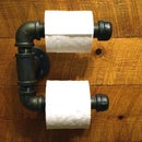 Easy DIY Steel pipes toilet paper holder