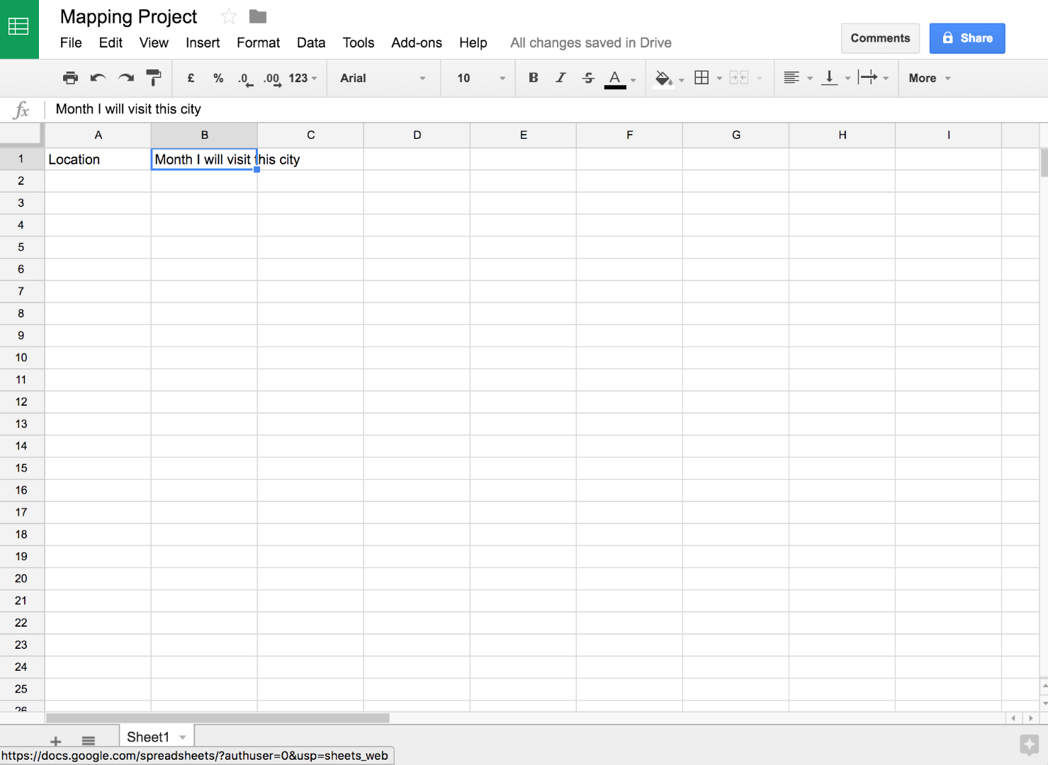 Picture of Name the Columns to Organize Your Data