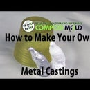 DIY LOST WAX METAL CASTING from 3D Printed Plastic