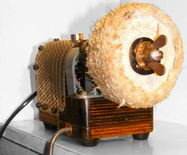 Steampunk Direct Drive Rotary Buffing Machine Powered by Dyson With Retro 80s Secret