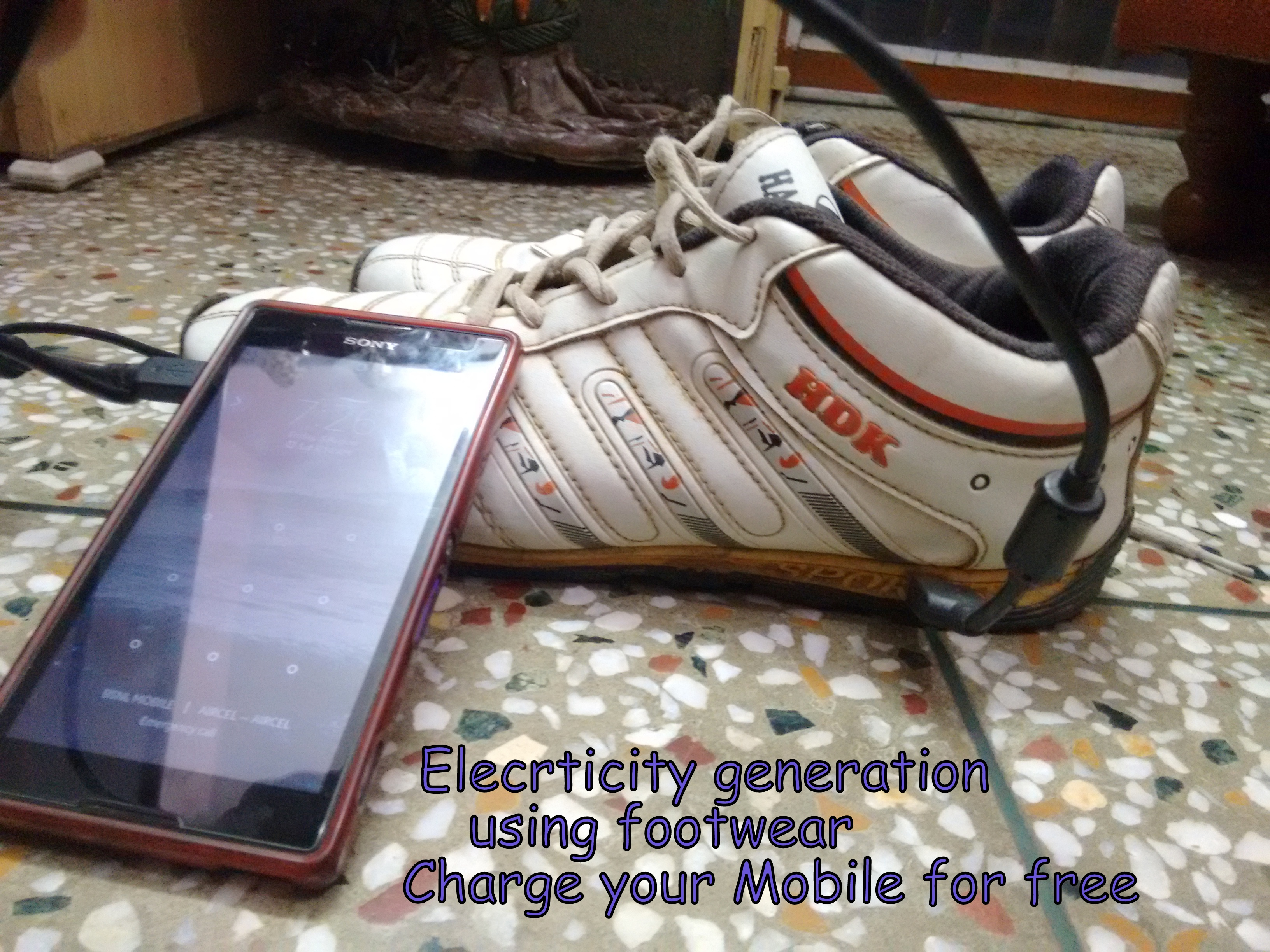 Picture of  Generate Electricity Using Footwear-Charge Your Mobile(Piezo Generator)