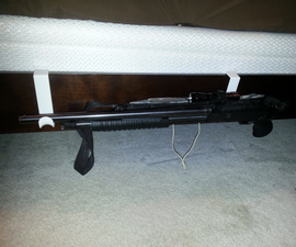 Cheap and Easy Bedside Shotgun Mount