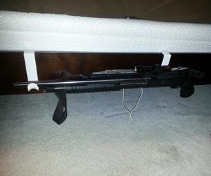 Cheap and Easy Bedside Shotgun Mount