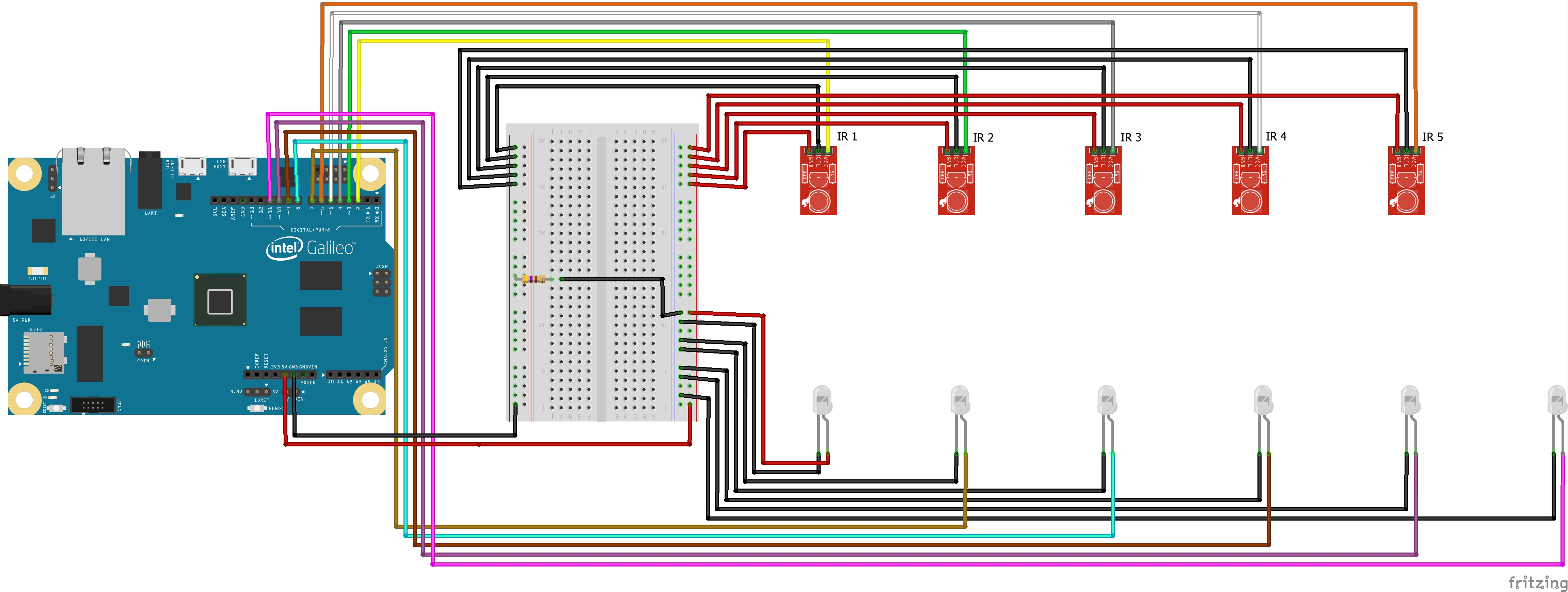 Picture of LED Interfacing With Intel Galileo:
