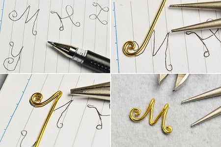 Make the Letter of the Wire Wrapped Earrings