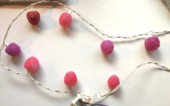 Picture of Raspberry String Lights Made of Hot Glue